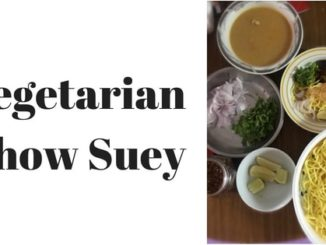 authentic vegetarian Khow Suey