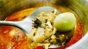 Preparing mohinga soup